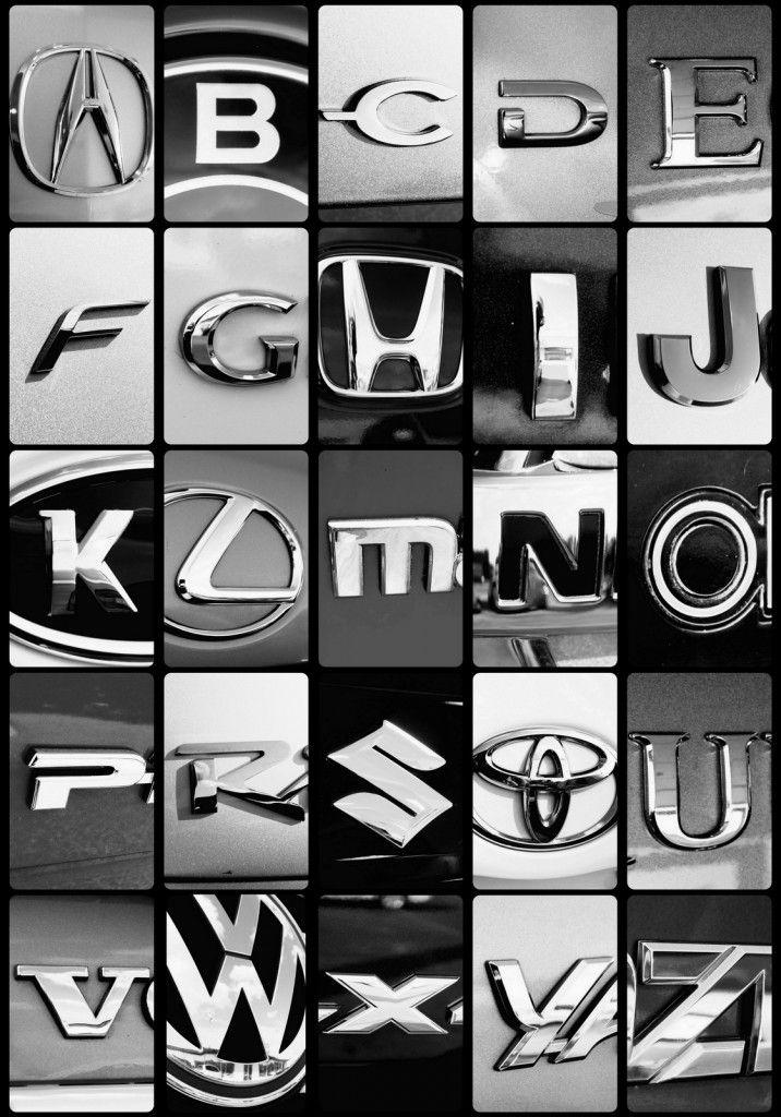 Car Logo Style Illustrations Letters Pinterest