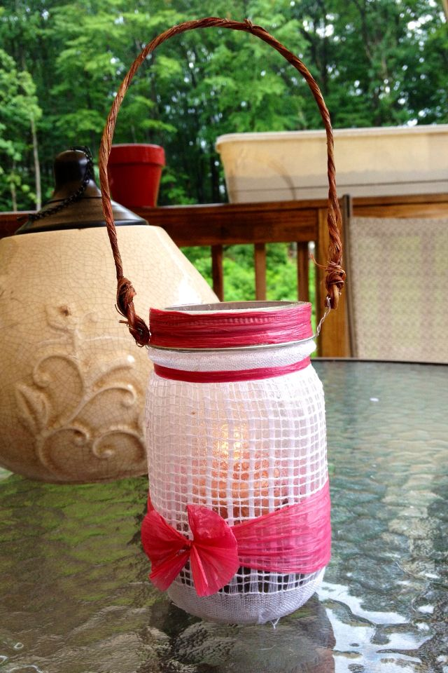 Mason jar DIY candle holder Candles..... Pinterest