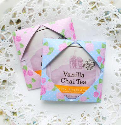 Origami Tea Packet Favors f