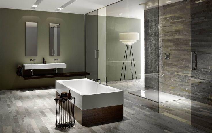Contemporary, sleek bathroom pinspiration. #Glossy Tiles ...