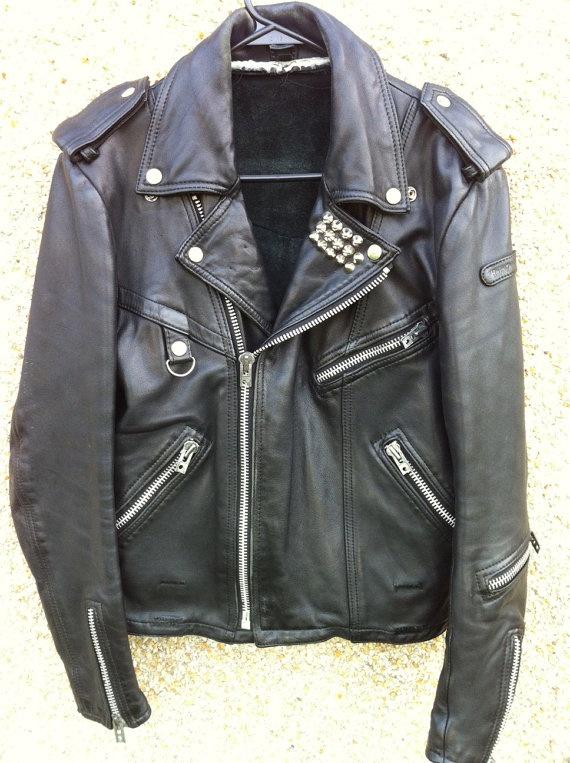 Vintage Studded Biker Jacket, Hein Gericke, Harley