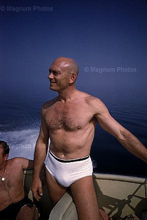 Yul Brynner On Vacation At Sea Actors Yesterday