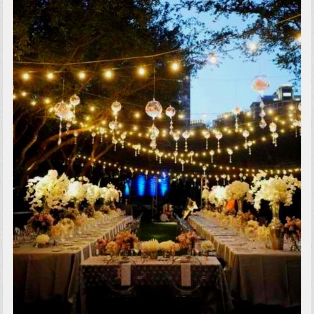 Outdoor fairy garden wedding daydreaming Pinterest