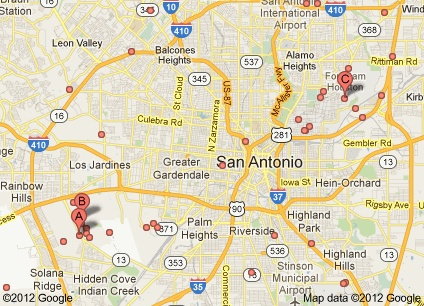 The 4 Military Bases In San Antonio On The Map San