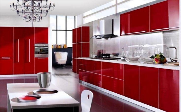 Best 20 Red Kitchen Cabinets Ideas On Pinterest