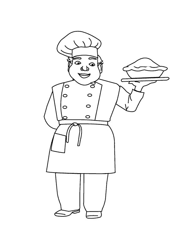 child chef colouring pages (page 2)  cookbooks