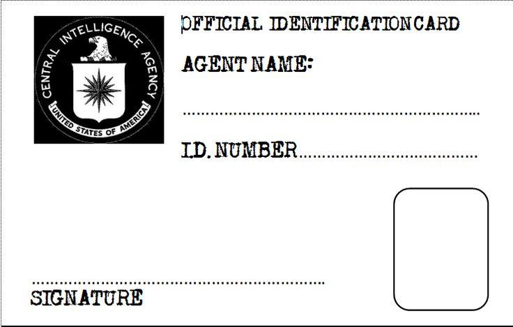 Spy or secret agent badge template – red   birthdays   spy.