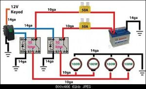 Off road light wiring diagram  | Automotive Electronics
