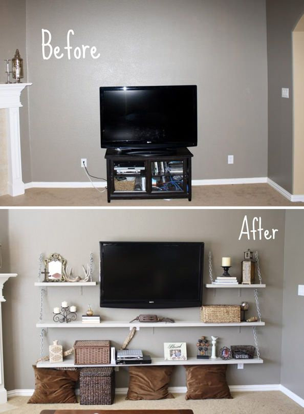 An Idea If We Replace The Fat Back Tv In Living Room And Skip Fireplace Or For Bat Area Once It Is Finished Apartment