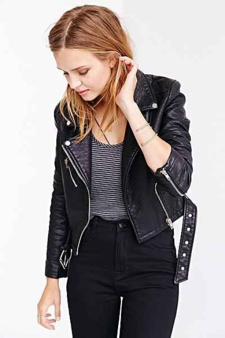 Members Only Pebbled Vegan Leather Jacket - Urban Outfitters