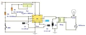 Adjustable Timer Circuit Diagram with Relay Output