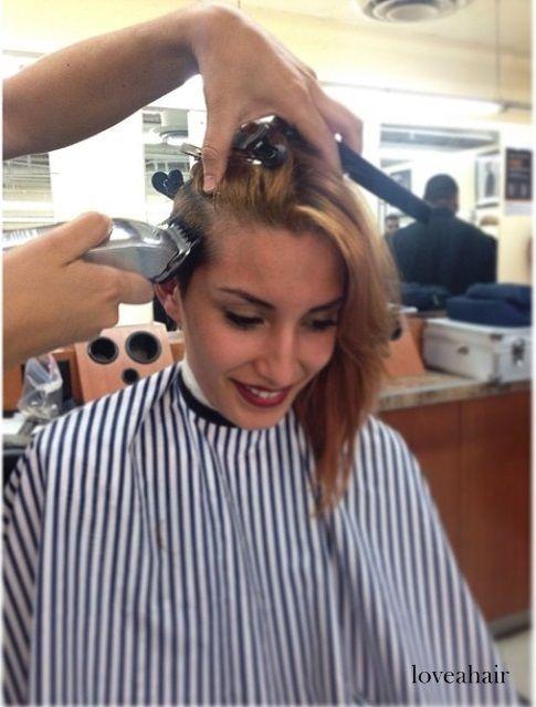 Girl In Barbershop On Flickrgirl In Barbershop Buzz