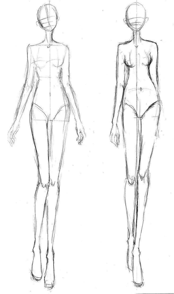 Free Fashion Illustration Templates. female download v39 back view ...