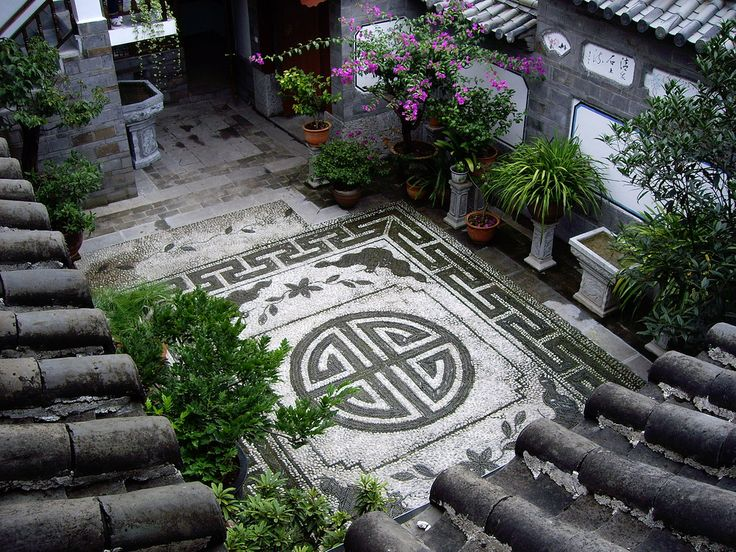 Lijiang courtyard of Chinese style homes I admire for