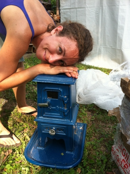 Pix is building a tiny house and will use a wood stove for some of her heating. She's chosen a tiny stove from Salamander