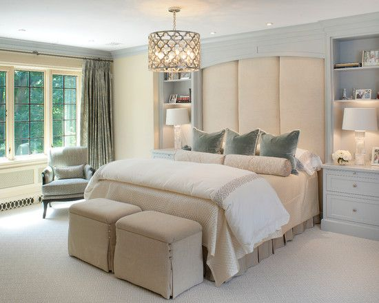 Bedroom Design Enchanting Transitional With Cool Chandelier And Elegant Queen Size Bed