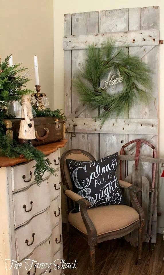 1000 Ideas About Farmhouse Christmas Decor On Pinterest