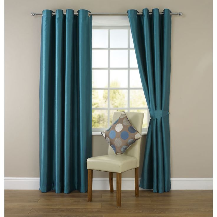 Wilko Faux Silk Eyelet Curtains Dark Teal For The Living Room During The Winter Months Post