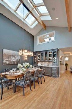 Maple Floor With Dark Grey Walls Dining Room Pinterest
