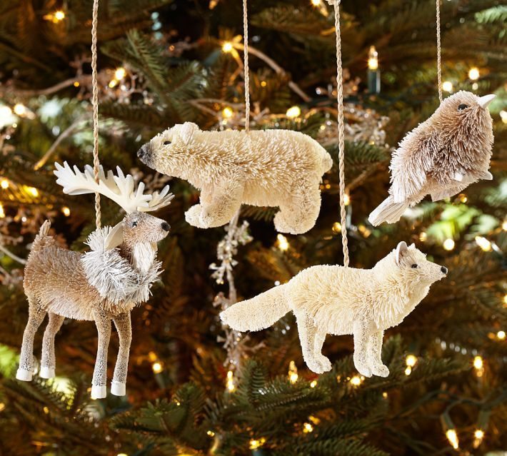 Arctic Animal Ornaments, Set of 4 Pottery Barn