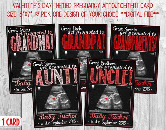 Pregnancy Announcement Card For Grandparents Aunts Or
