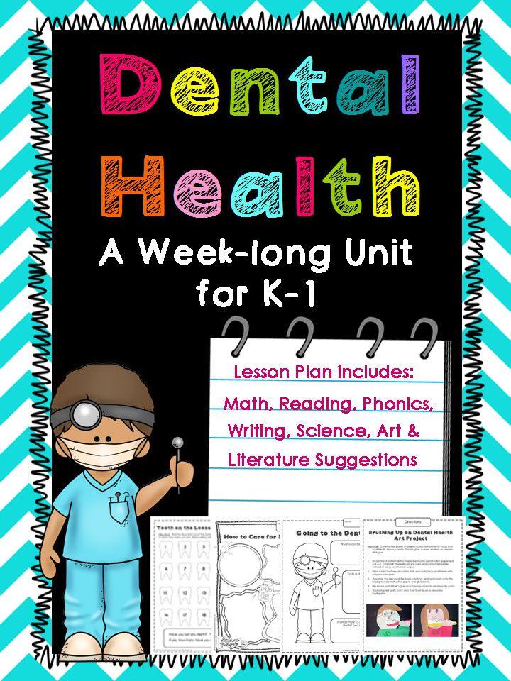 Dental Health Theme WeekLong Unit for Kindergarten and