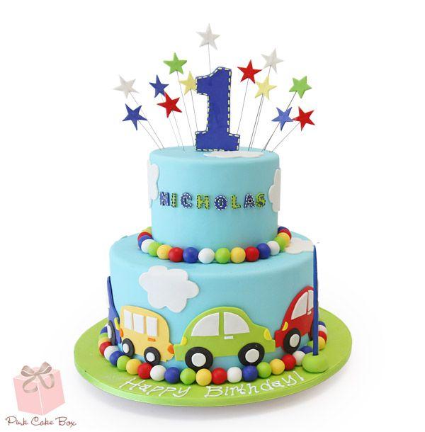 Aryan S First Birthday Cake 187 Birthday Cakes Car Cakes