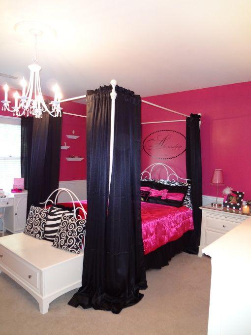 Bright Pink Walls Pillows Zebra Print Fun S Room
