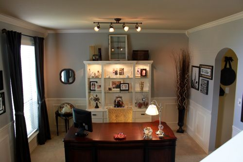 Turning A Formal Dining Room Into An Office Open Floor