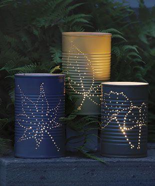 Garden Lanterns #tin cans: