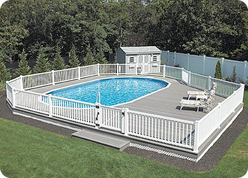Nice Above Ground Pool Deck Area LARGE Above Ground