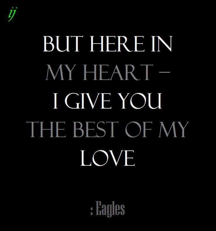 Eagles Best My Love Lyrics