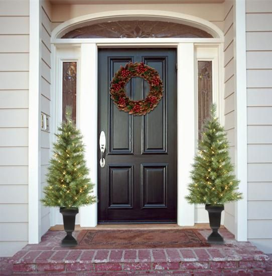 Simple Front Door Decor Home For The Holidays