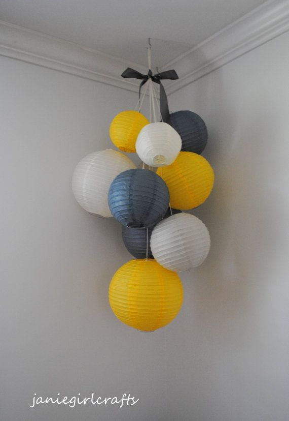 Tissue Pom Poms And Lanterns Nursery