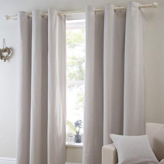 Natural Salcombe Curtain Collection Dunelm Dan Flat