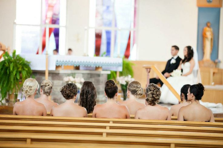 Strapless Bridesmaids Oops Naked In Church Wedding