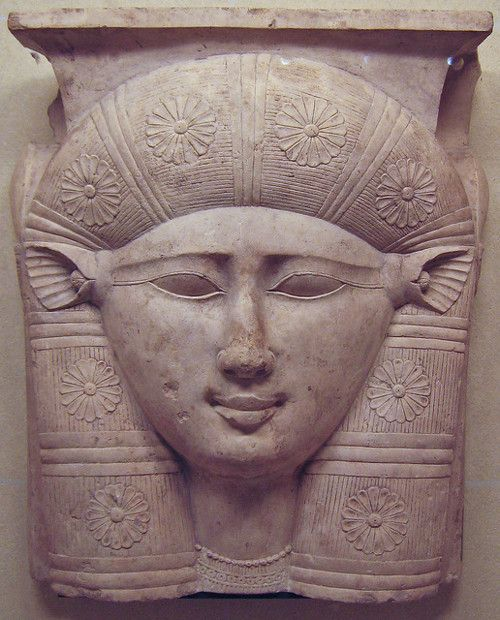 Face of the Goddess Hathor, 3rd century BC