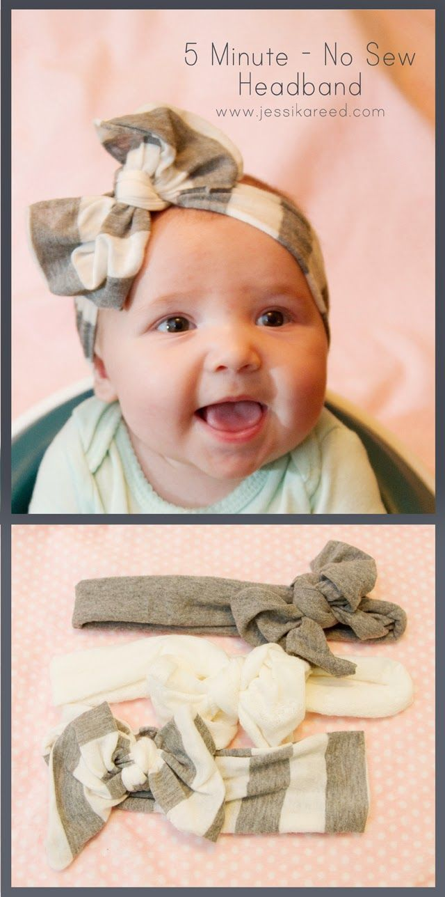 No-Sew Bow Headband 40 Homemade No-Sew DIY Baby and Toddler Gifts – DIY for Life