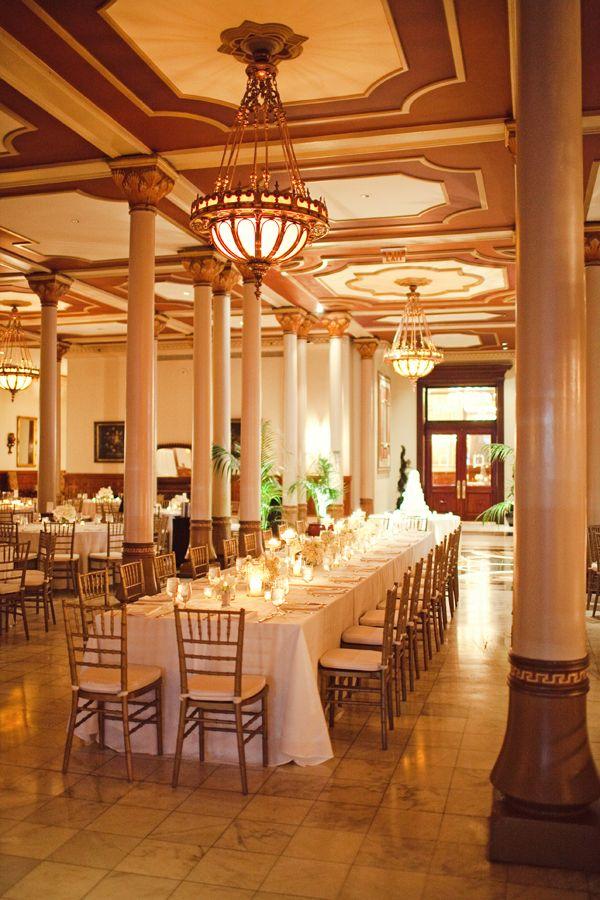 Elegant Wedding Reception At The Driskill Hotel In Austin