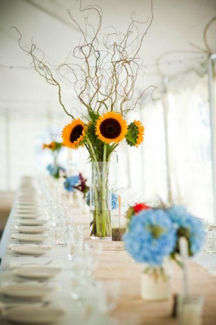 Fleur Du Jour Sunflower Centerpiece Josie Hayes This