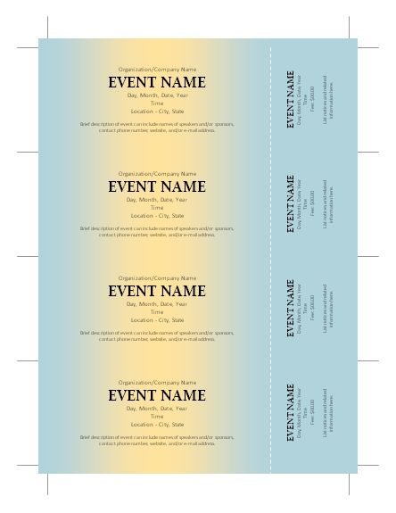 Event Ticket Templates Free event tickets template free event – Event Ticket Ideas