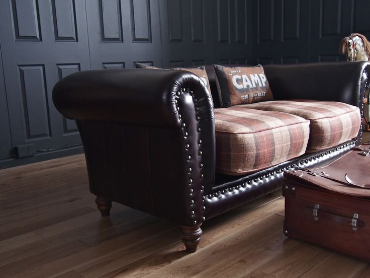 Re Upholstered Sofa Plaid Leather About