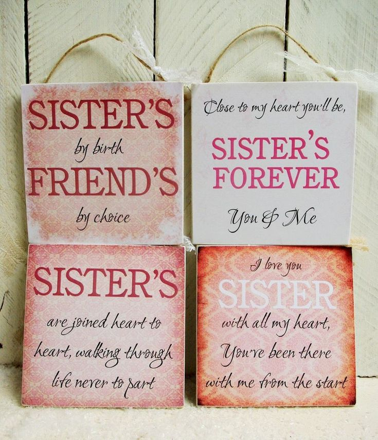Details about handmade plaque sign gift present sister