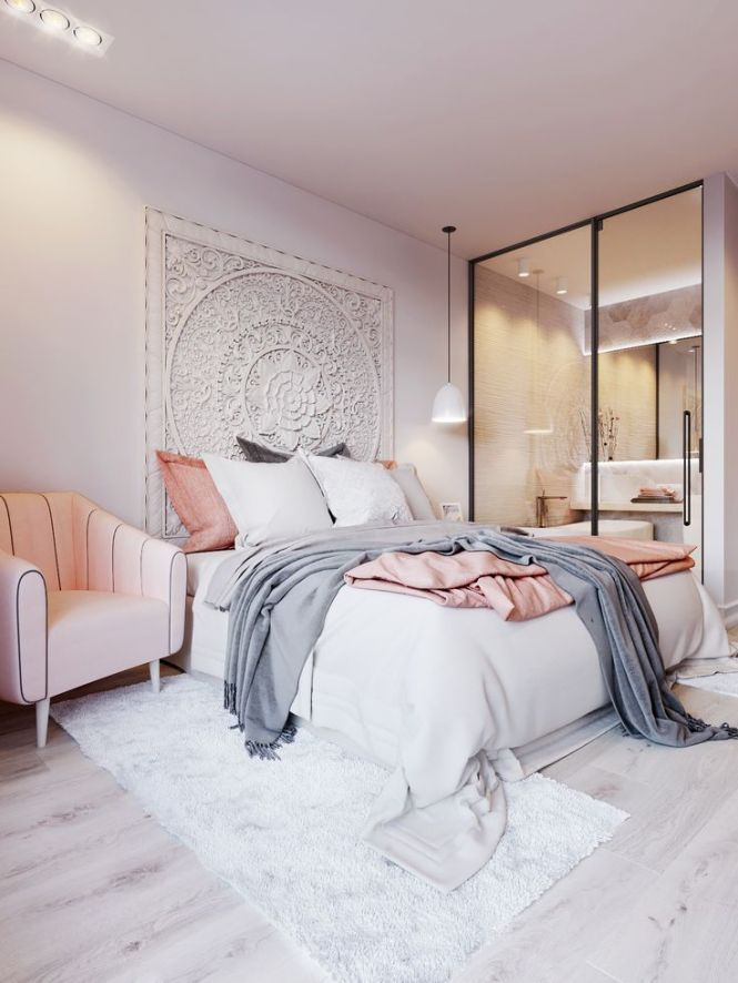 Pink White On Behance Bedroomswhite Gray Blush Bedroomsoft Bedroom Ideaswhite