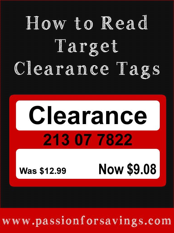 How to Read a Target Clearance Tags! This post explains what all the extra numbers mean on the tags, You'll never shop Target the