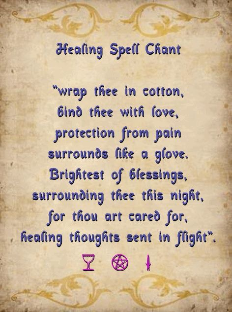 Healing Spell Chant Light A White Candle And Chant This Three Times Over While Holding A Quartz