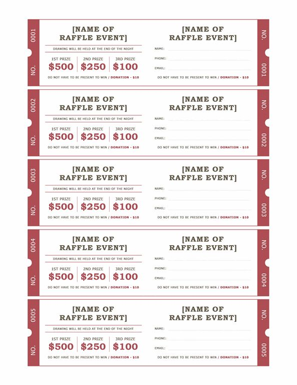 Prize Ticket Template raffle ticket maker new from surething – Raffle Ticket Maker