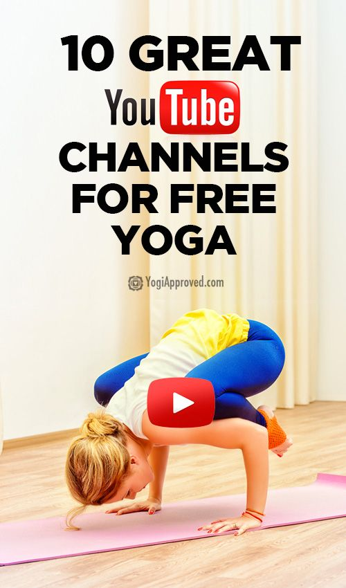 10 YouTube channels with yoga videos — a great resource to bring variety to your practice and add movement to you daily routine.
