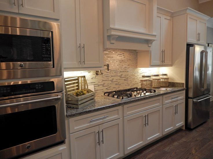 White Kitchen Cabinets Gray Granite Countertops New