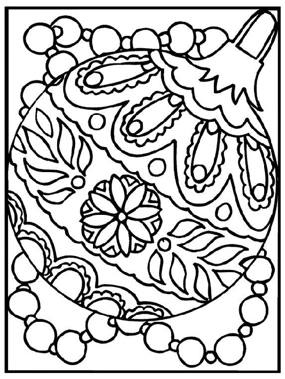 Christmas Ornament coloring page free coloring pages